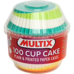 Photo of Multix Baking Aids Cup Cake Cases Medium Printed And Plain 100 Pack