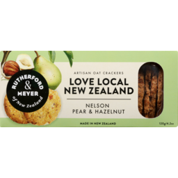 Photo of Rutherford & Meyer Oat Crackers Nelson Pear & Hazelnut 120g