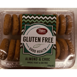 Photo of Baker's Collection Good Health Almond & Choc Cookies Gluten Free 200g
