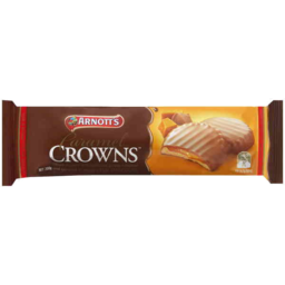 Photo of Arnott's Chocolate Biscuits Caramel Crowns 200gm