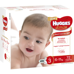 Photo of Huggies Ultimate Nappies, Unisex, Size 3 (6-11kg), 72 Nappies