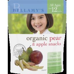 Photo of Bellamy's Organic Pear & Apple Snacks 20g