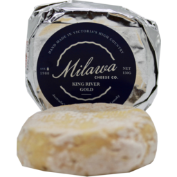 Photo of Milawa 'King River Gold' Washed Rind Cheese 150g