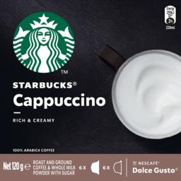 Photo of Starbucks Cappuccino Instant Coffee 12 Capsules 120g