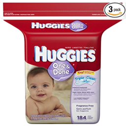 Photo of Huggies One & Done Baby Wipes Resealable Travel Pack