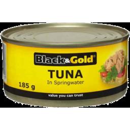 Photo of Black & Gold Tuna Chunks In Springwater 185gm