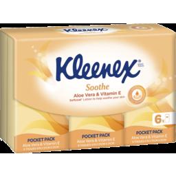 Photo of Kleenex Pocket Pack Aloe Vera 6 x 9 pack