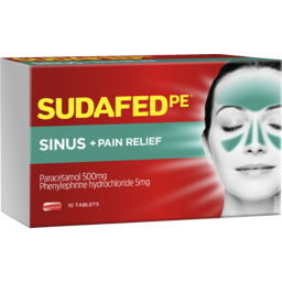 Photo of Sudafed Pe Sinus + Pain Relief Tablets 10 New Pack