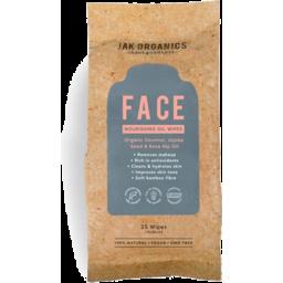 Photo of Jak Organic Face Nourish Oil Wipes 25pk