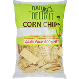 Photo of Natures Delight White Corn Strips 500