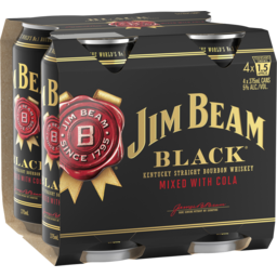 Photo of Jim Beam Black & Cola Cans