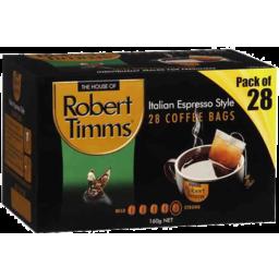 Photo of Robert Timms Italian Espresso Coffee Bags 28 pk 160 g