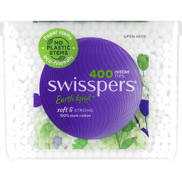 Photo of Swisspers Cotton Tips Paper Stems 400 Pack