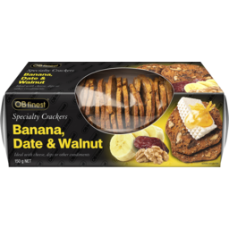 Photo of Ob Finest Specialty Crackers Banana Date & Walnut 150g