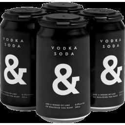 Photo of & Vodka Soda Bl&Ck 4x355ml