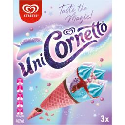 Photo of Streets Uni Cornetto Ice Creams 3 Pack 402ml