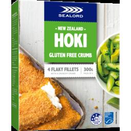 Photo of Sealord Hoki Fillets Gluten Free Crumb 300g