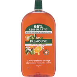 Photo of Palmolive Antibacterial Liquid Hand Wash Soap Orange 2 Hour Defence Refill & Save 0% Parabens Recyclable 1l