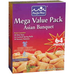 Photo of Pacific West Mega Value Pack Asian Banquet 64 Pieces 1kg