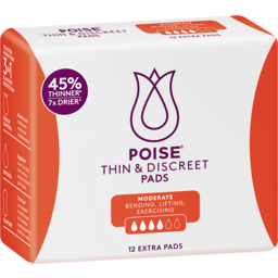 Photo of Poise Thin & Discreet Extra Pads 12 Pack