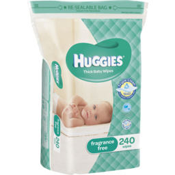 Photo of Huggies Baby Wipes Unscented 240 Pack