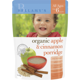 Photo of Bellamy's Organic Apple & Cinnamon Porridge 125g