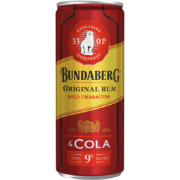 Photo of Bundaberg Distillers Serve & Cola Can