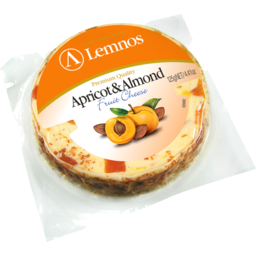 Photo of Lemnos Cheese Apricot & Almond 125g