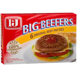 Photo of I&J Big Beefers 480gm