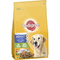 Photo of Pedigree Medium Adultdry Dog Food With Real Turkey 3kg Bag