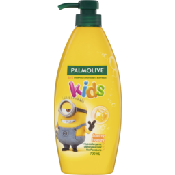 Photo of Palmolive Kids 3 In 1 Hypoallergenic Hair Shampoo, Conditioner & Body Wash Minions Funny Honey 700ml