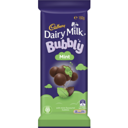 Photo of Cadbury Dairy Milk Bubbly Mint 160g