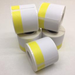 Photo of Printer, Markdown Labels, Yellow/White, for B-EP2DL/QLn220/ZQ610 (Carton 50xRolls)