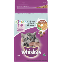 Photo of Whiskas Kitten Dry Cat Food Chicken & Tuna 1kg
