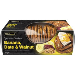 Photo of Ob Finest Specialty Crackers Banana Date & Walnut 150gm