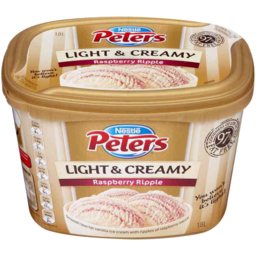 Photo of Peters Light & Creamy Raspberry Ripple 1.8l