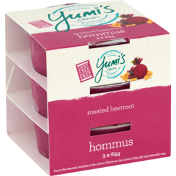 Photo of Yumis Roasted Beetroot Hommus Dip 3 Pack 195g