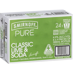 Photo of Smirnoff Pure Classic Lime & Soda Stubbies