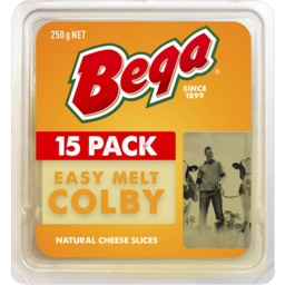 Photo of Bega Easy Melt Colby Slices 15pk 250g