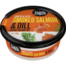 Photo of Zoosh Smooth & Sassy Smoked Salmon & Dill Creamy Dreamy Dip 185g
