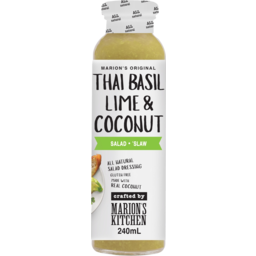 Photo of Marions Kitchen Thai Basil Lime Coconut Dressing 240ml