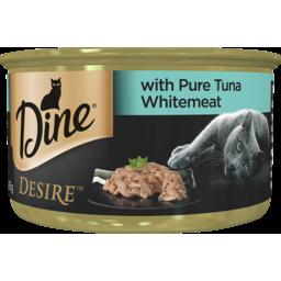 Photo of Dine Cat Food Desire Pure Tuna Whitemeat 85g