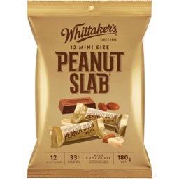 Photo of Whittakers Chocolate Share Pack Peanut Slab 12 Pack
