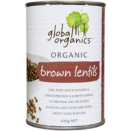 Photo of Global Organics - Brown Lentils - 400g