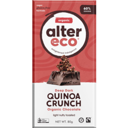 Photo of Alter Eco Chocolate - Dark with Quinoa Crunch