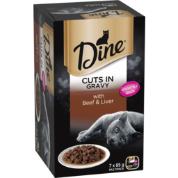 Photo of Dine with Beef & Liver in a Rich Gravy 7 x 85g