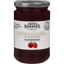 Photo of Barker's Fruit Preserve Raspberry 350g