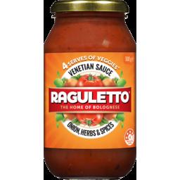 Photo of Raguletto Venetian Onion, Herbs & Spices Pasta Sauce 500g