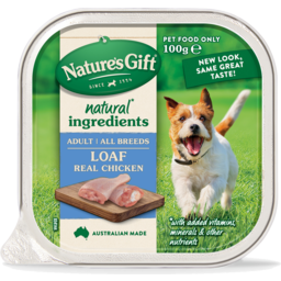 Photo of Nature's Gift Natures Gift Loaf Chicken Wet Dog Food 100g
