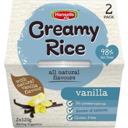 Photo of Hansell's Creamy Rice Vanilla 2 X 120gm